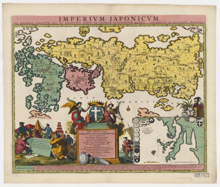 Imperium Japonicum per regiones digestum sex et sexaginta atque ex ipsorum Japonensium mappis descriptum