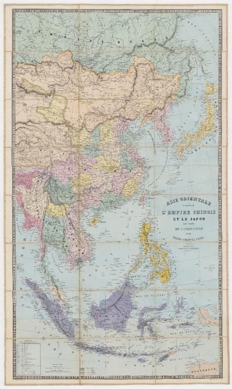 Asie orientale : comprenant l'Empire Chinois et le Japon, les états de l'Indo-Chine et le grand archipel d'Asie