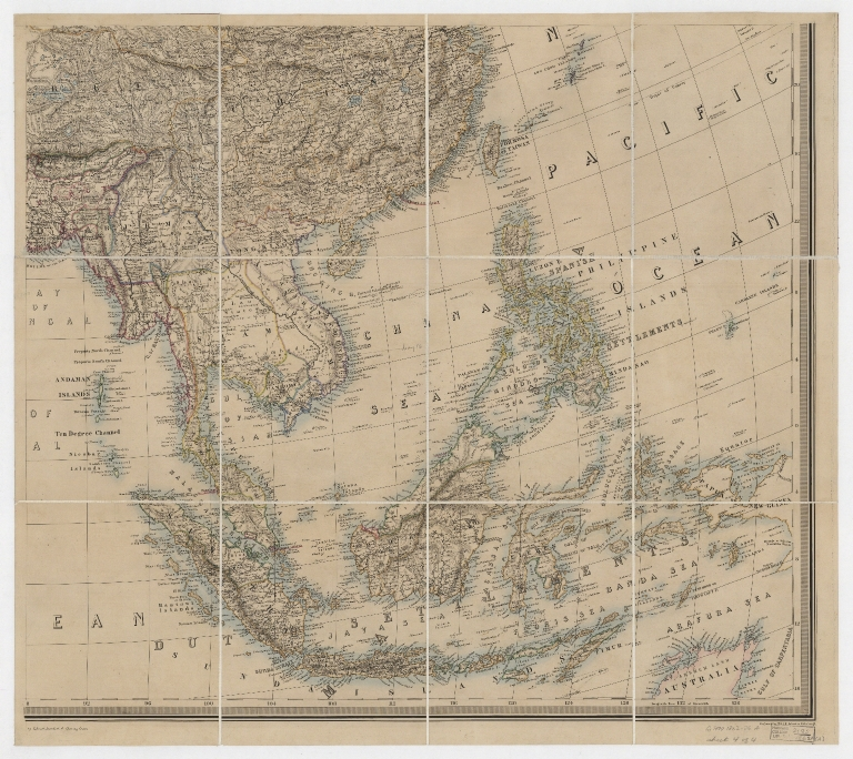 Stanford's library map of Asia.Part 4