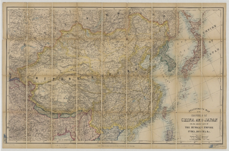 Stanford's map of the empires of China and Japan with the adjacent parts of the Russian empire, India, Burma &c.