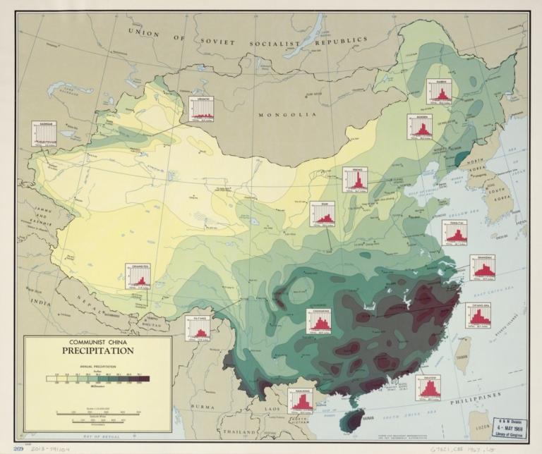 Communist China, precipitation