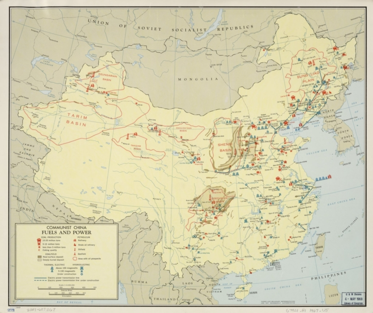 Communist China, fuels and power