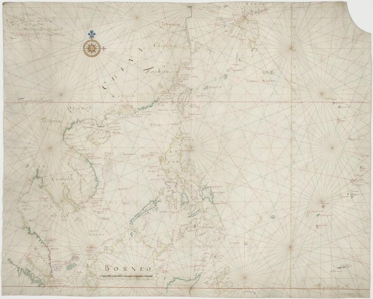 Kaart van de Chineesche Zee en Kust, van Straat Drioens tot Nanquin, en de Eilanden van Borneo tot Japan en de Ladrones