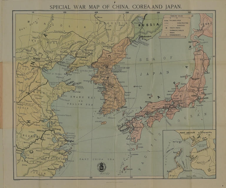 Special war map of China, Corea, and Japan.