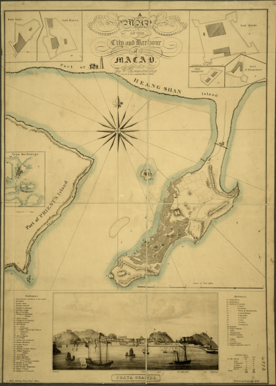 A map of the city and harbour of Macao