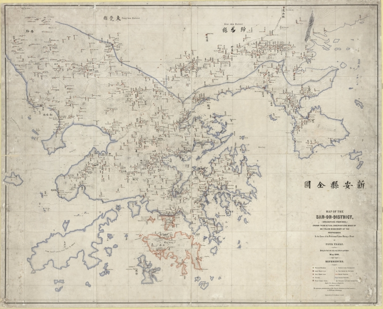 Map of the Sun-On-District, (Kwangtung Province) = 新安縣全圖
