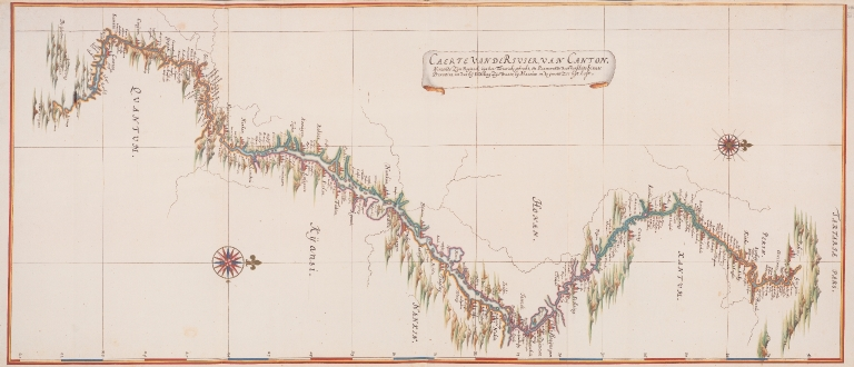 Chart of the river of Canton : taking Its origin, from the Tartar mountains, and passing through various Chinese provinces, until at last it discharges its water, into the great sea at Macau