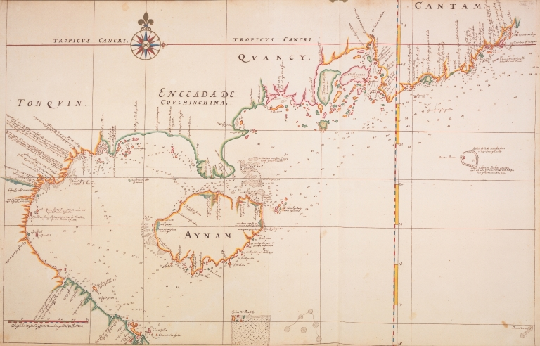 Map of the coasts of Tonkin and South China