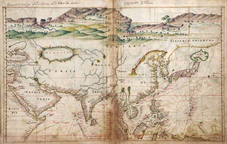 Albernaz coast map of Asia
