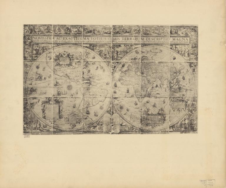 Map of the world by Jodocus Hondius, 1611