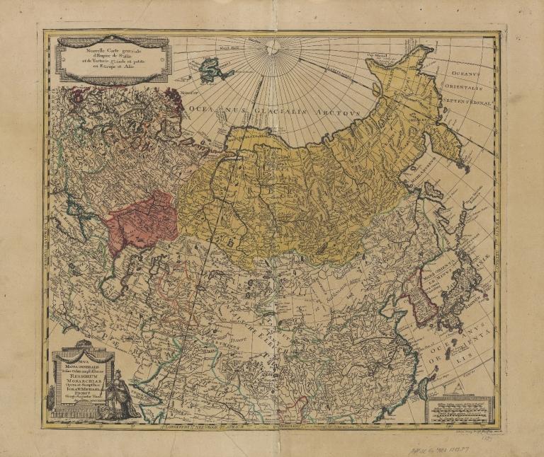 Nova mappa generalis totius orbis amplissimae Russorum Monarchiae = Nouvelle carte d'Empire de Russie et de Tartarie, grande et petite en Europe et en Asie