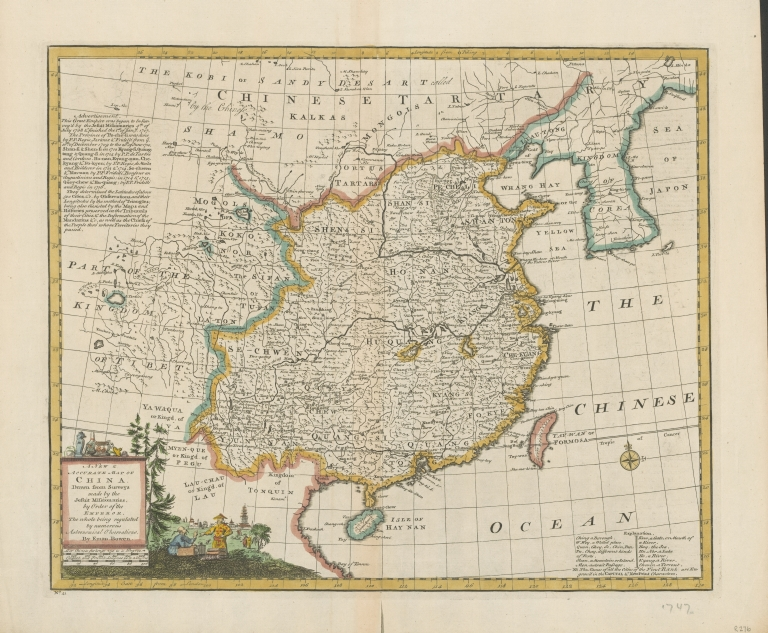 A new & accurate map of China : drawn from surveys made by Jesuit missionaries by order of the Emperor : the whole being regulated by numerous astronomical observations