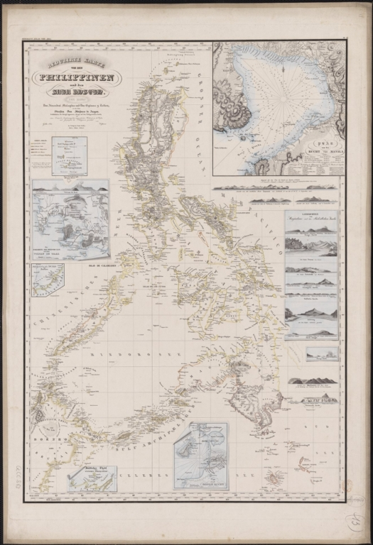 Reduzirte Karte von den Philippinen und den Susu Inseln