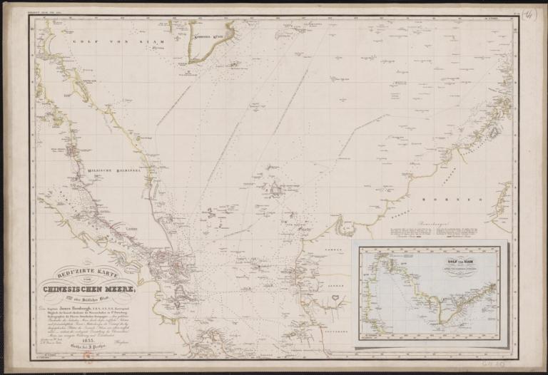 Reduzirte Karte vom Chinesischen Meere : 1stes oder Südlisches Blatt