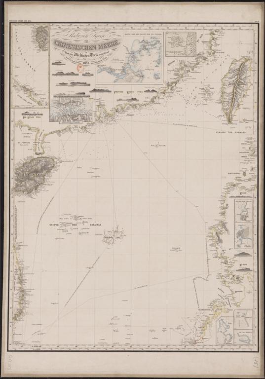 Reduzirte Karte vom Chinesischen Meere : 2tes blatt den Nördlichen Theil enthaltend