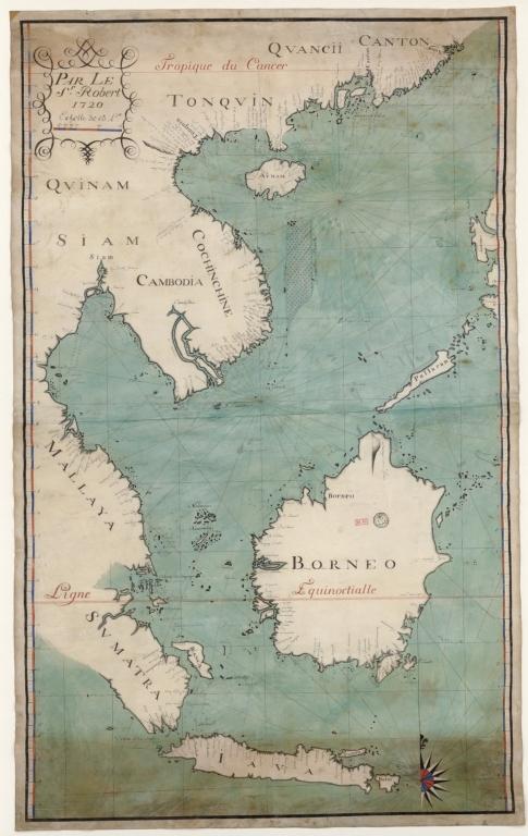 Carte des Mers de Java jusqu'à Canton