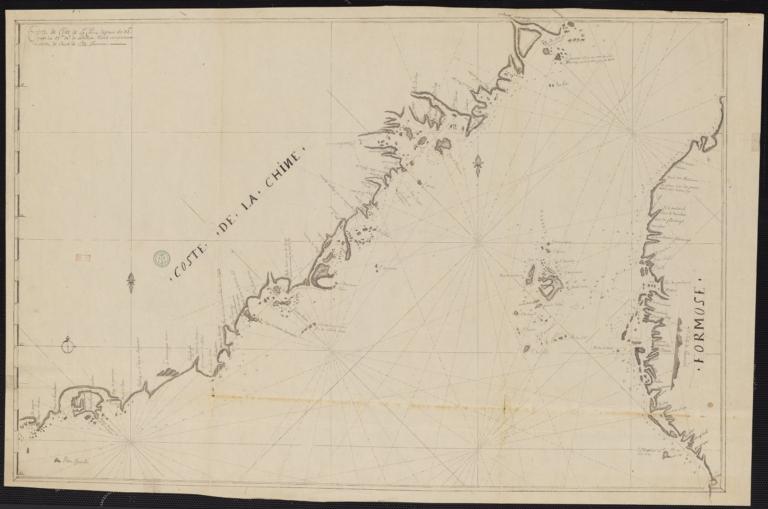 Carte de coste de la Chine depuis les 22 d. jusqu'au 25 d. 30 m. de latitude nord comprenant la partie de quert de l'isle Formose