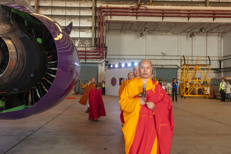 澳門國際機場,A320新機祝聖及開光儀式