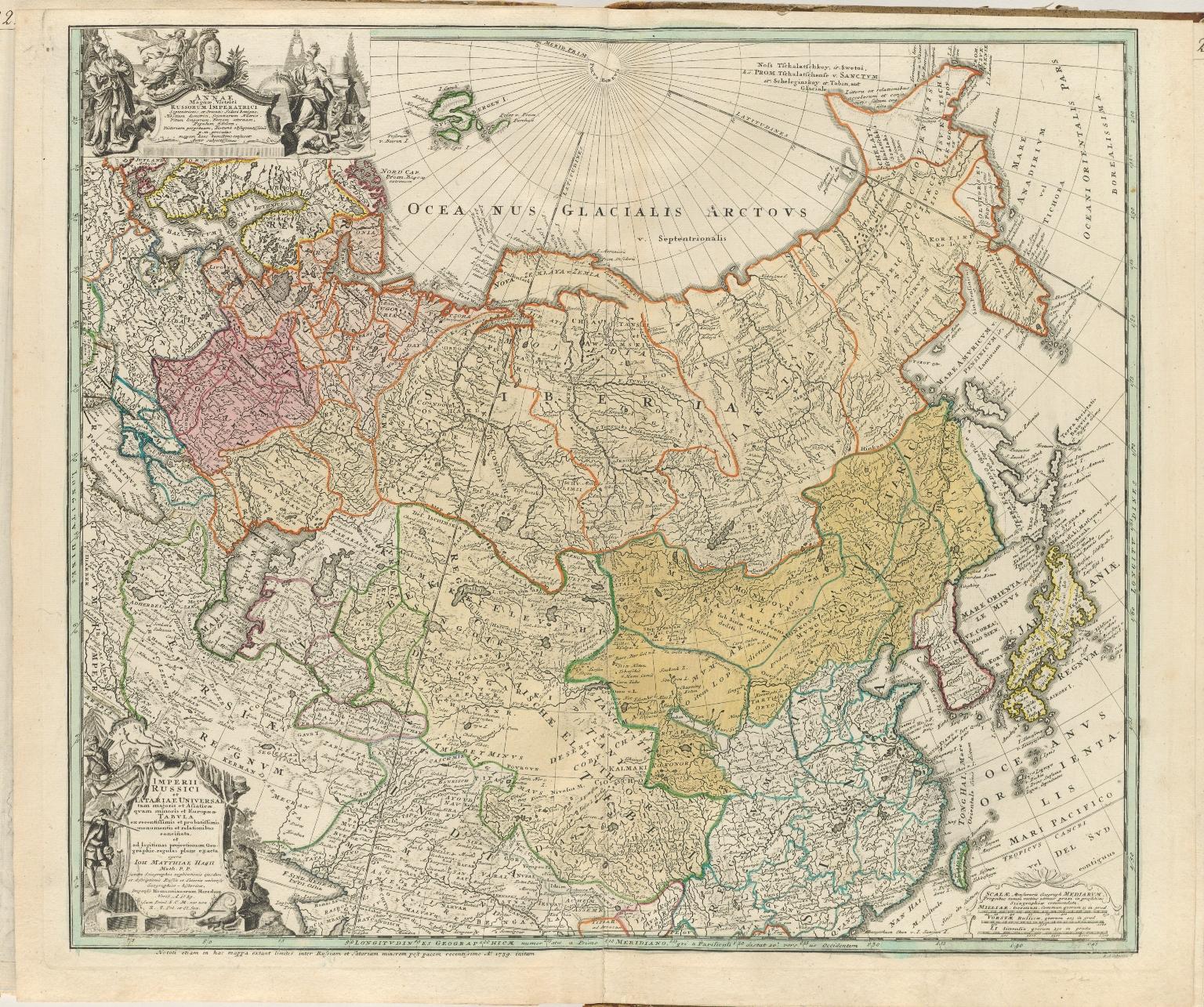 Imperii Russici et Tatariae universae tam majoris et Asiaticae, quam minoris et Europaeae tabula