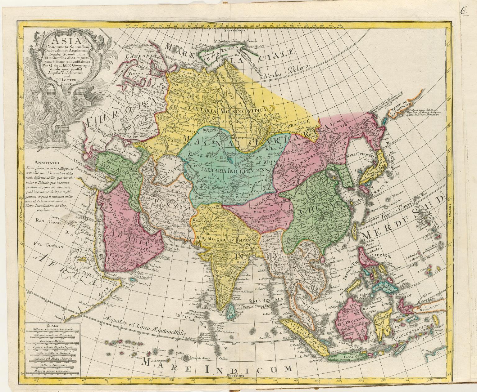 Asia : Concinnata Secundum Observationes Academiae Regalis Scientiarum et nonnullas alias, et iuxta annotationes recentissimas