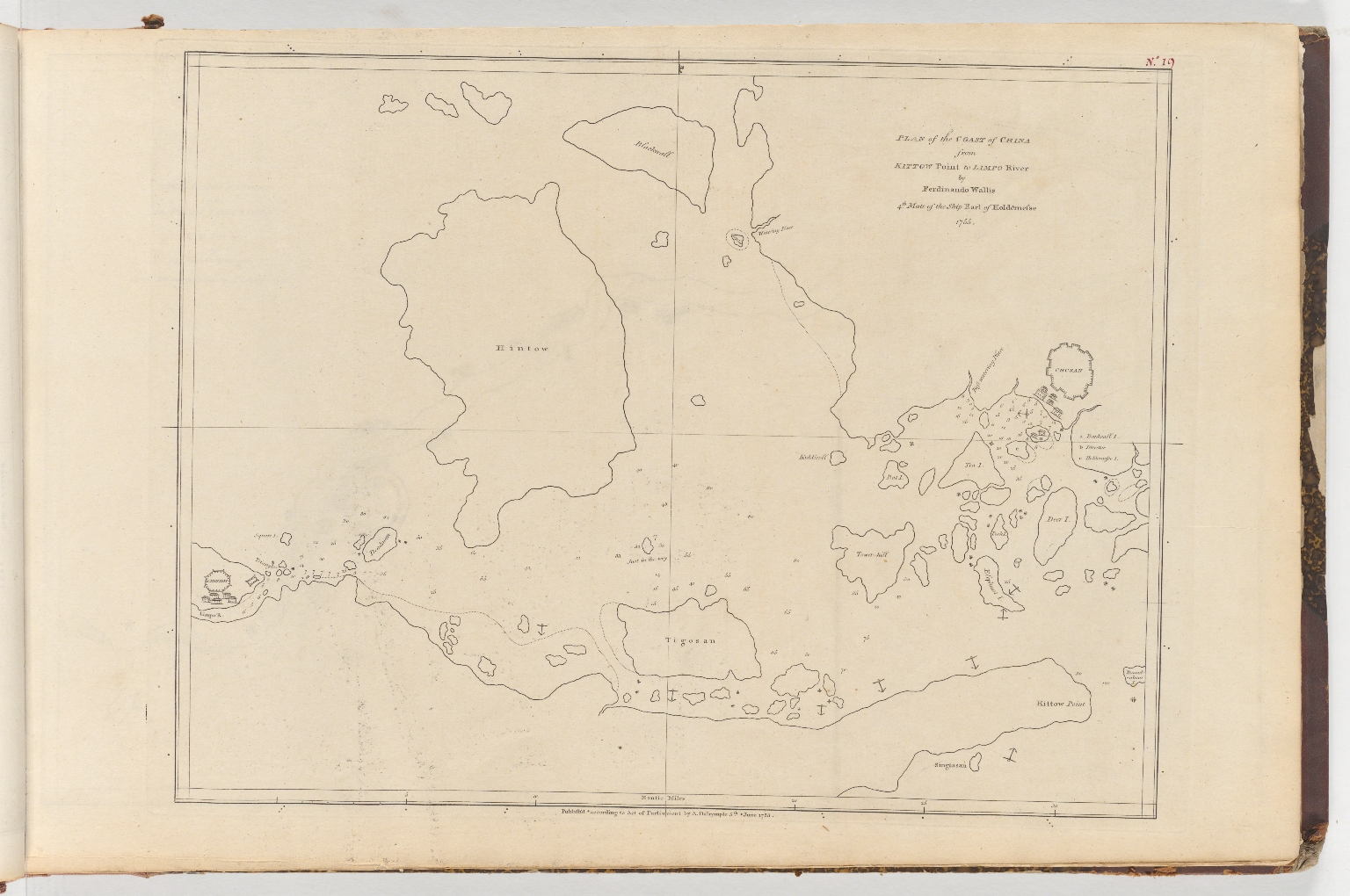 Plan of the coast of China from Kittow point to Limpo River