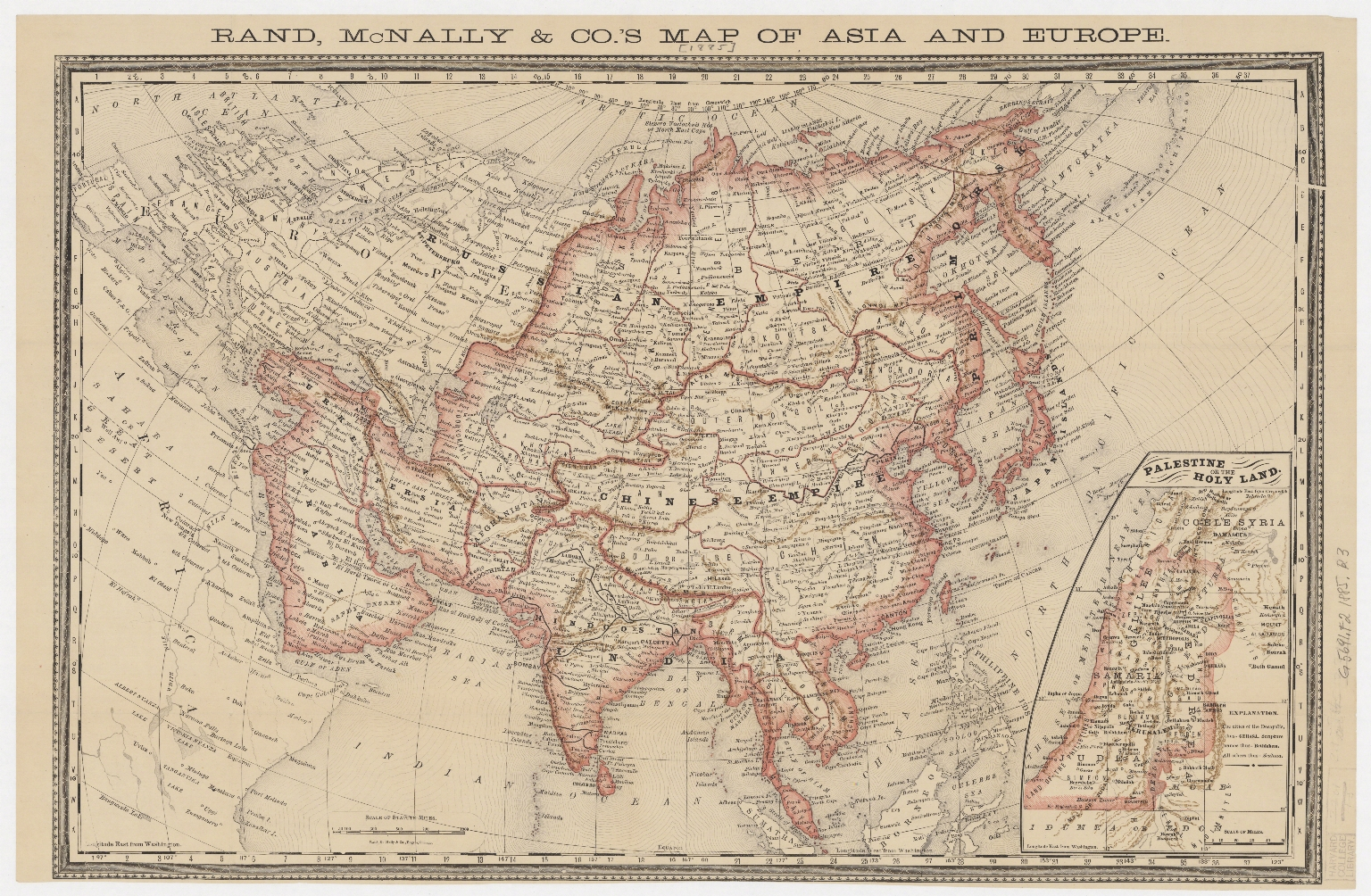 Rand McNally & Co.'s map of Asia and Europe