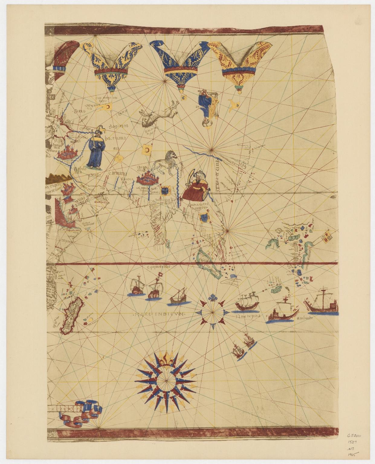 Map of the World by Viconte di Maiollo, 1527.Part 2
