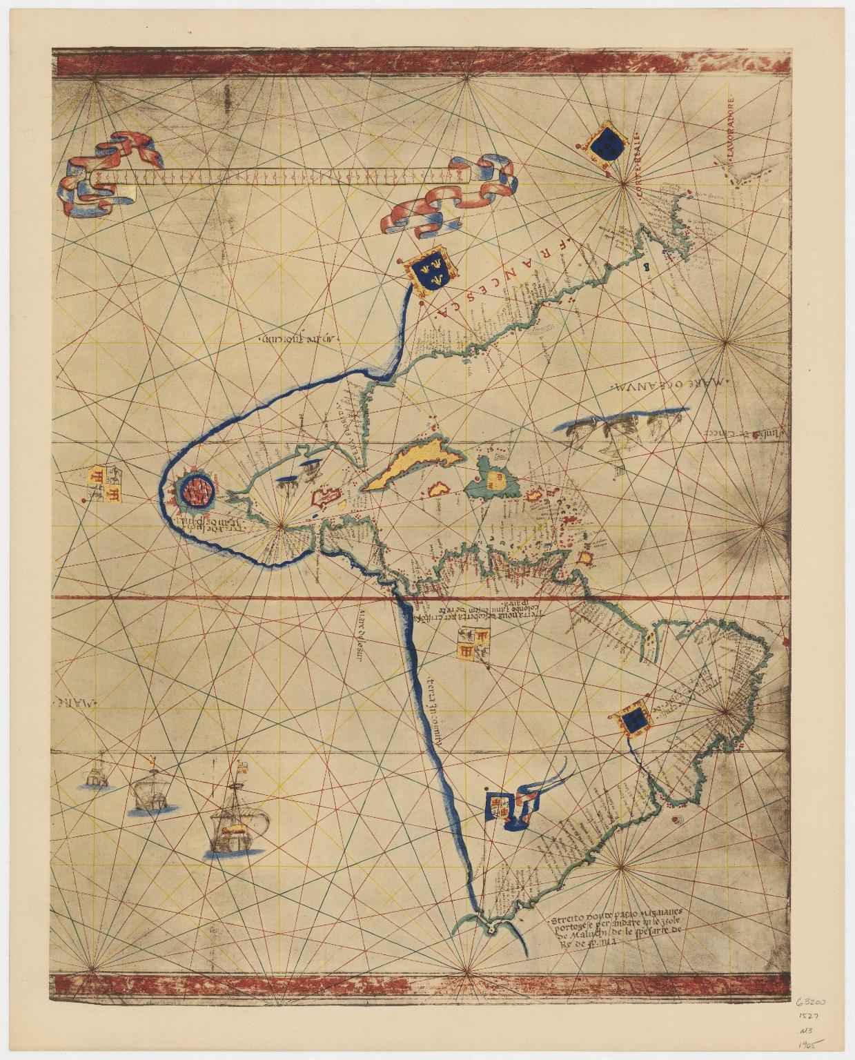 Map of the World by Viconte di Maiollo, 1527.Part 4