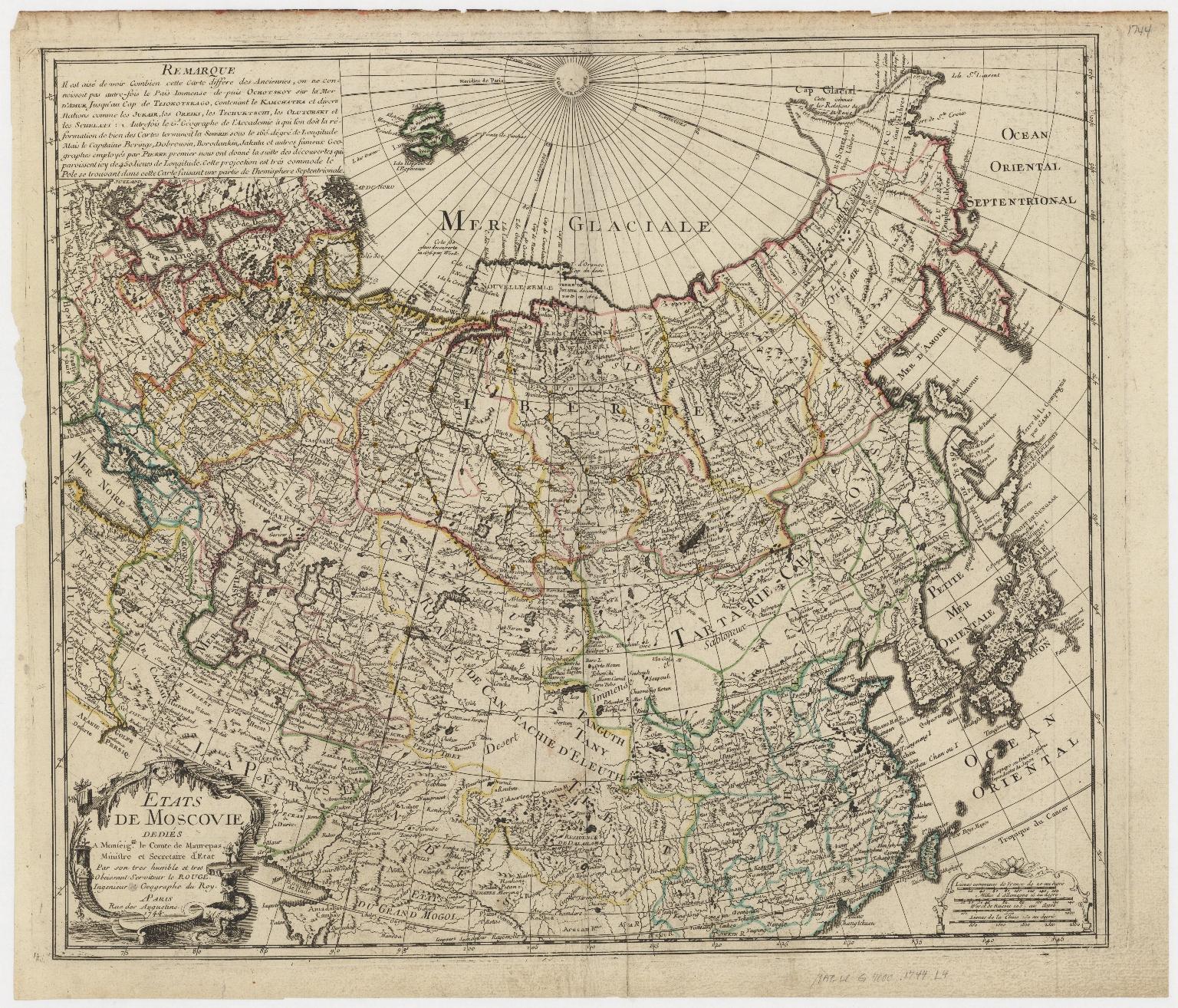 Etats de Moscovie : dediés a Monseignr. le Comte de Maurepas