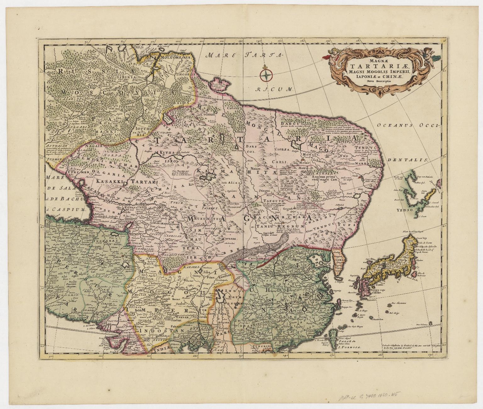 Magnae Tartariae, magni Mogolis imperii, Japoniae et Chinae, nova descriptio.