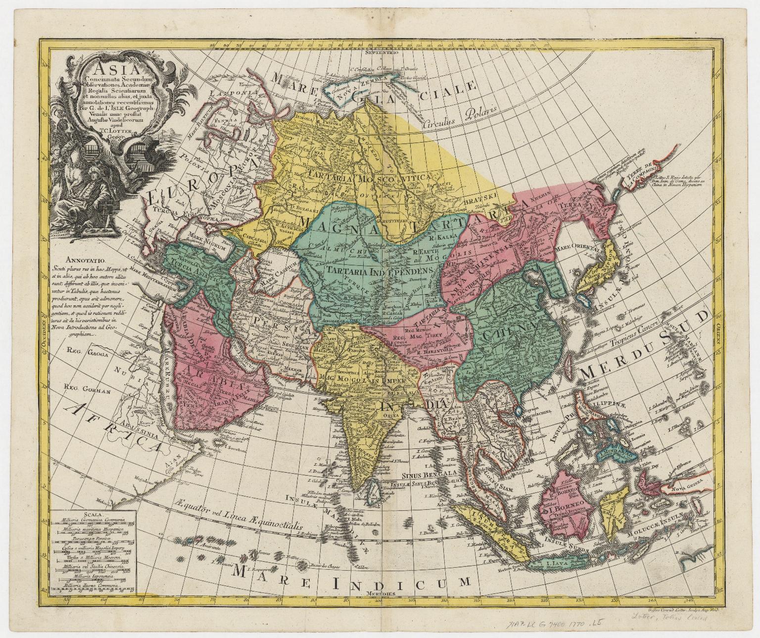 Asia concinnata secundum observationes Academiae Regalis Scientiarum et nonnullas alias, et juxta annotationes recentissimas