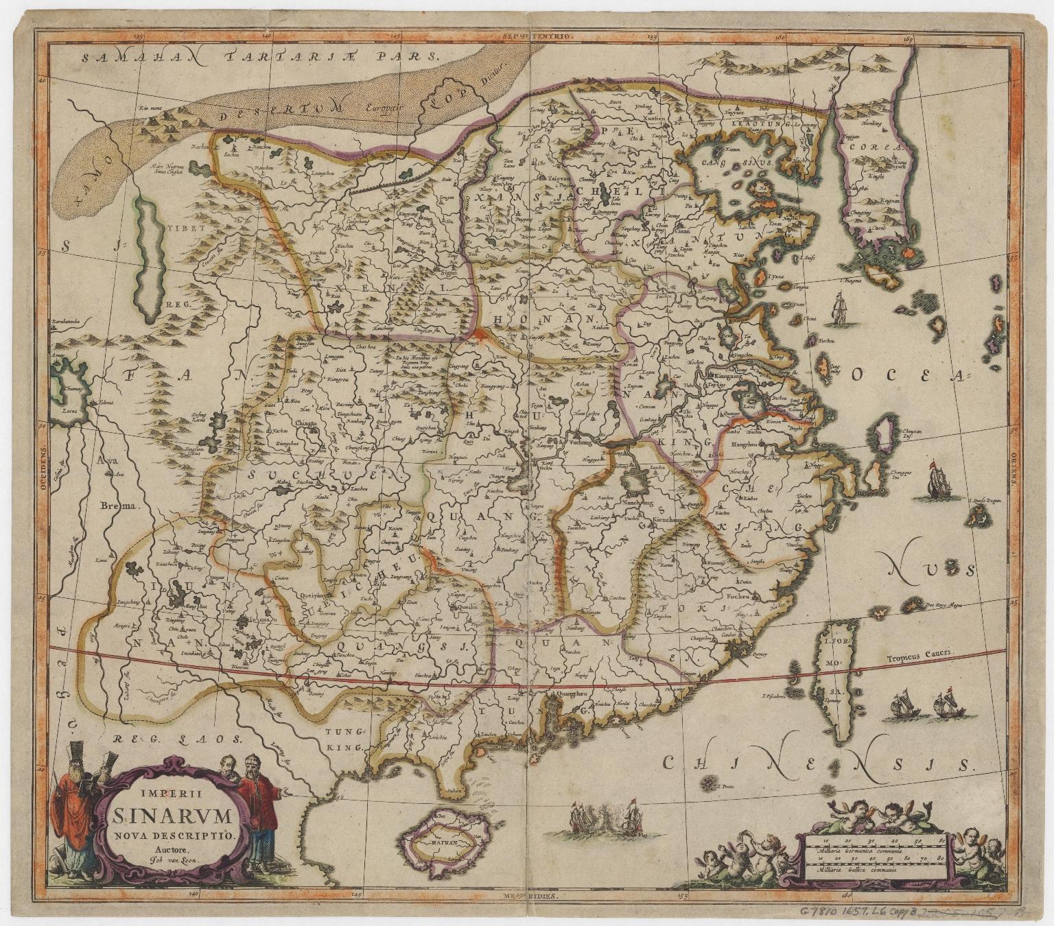 Van Loon map of China