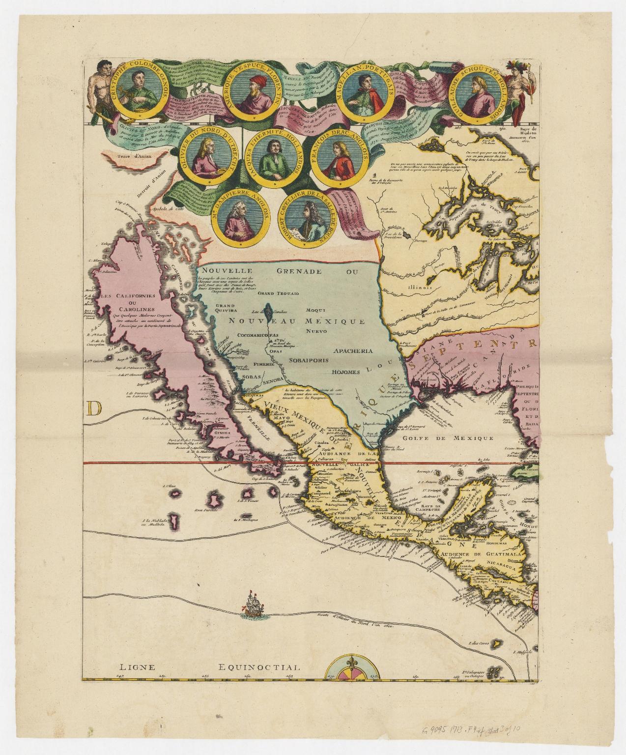 Carte de la Mer du Sud et de la Mer du Nord : ou se trouve les costes d'Amerique, d'Asie, d'Europe et d'Afrique situées sur ces mers. Part 3