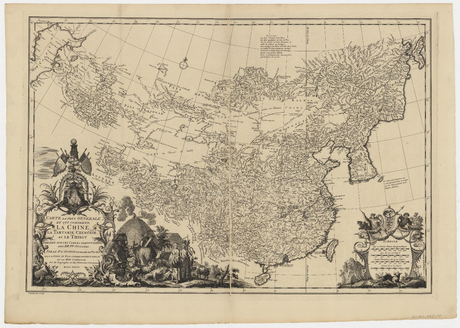 d'Anville map of Chinese Empire