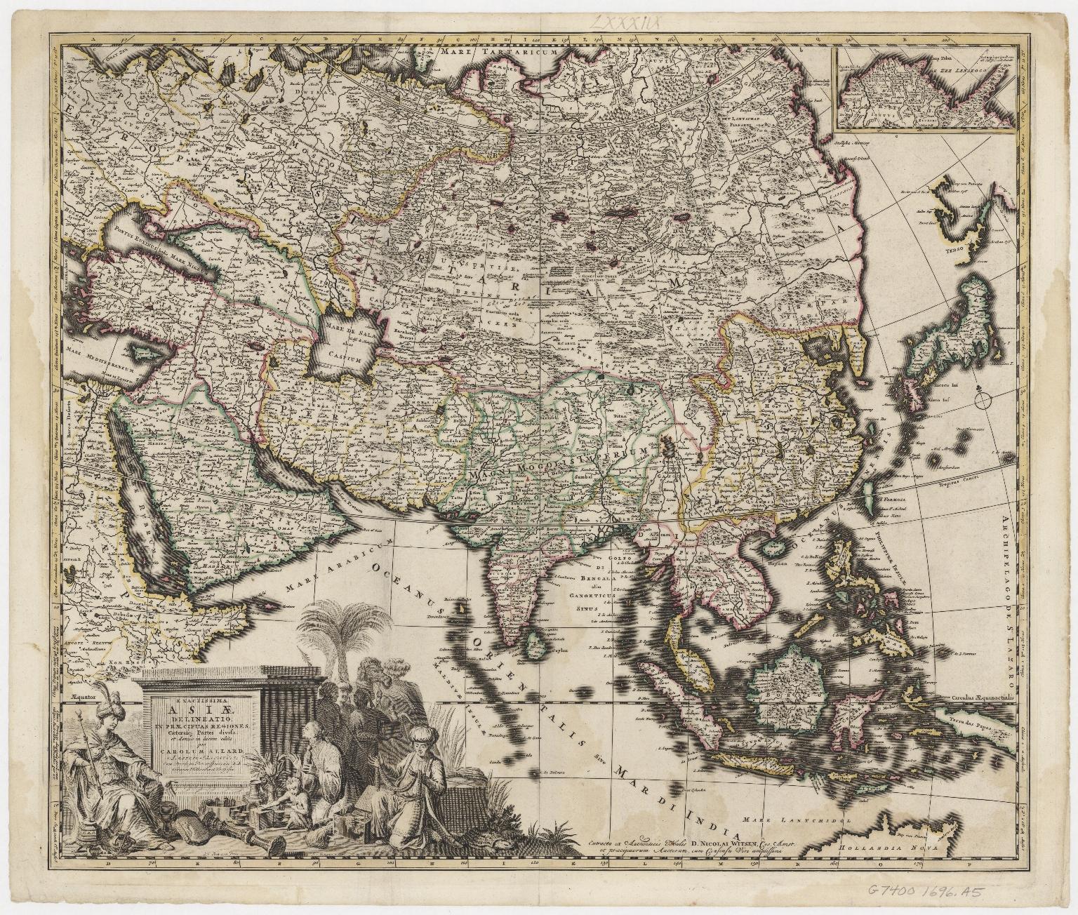Exactissima Asiae delineatio, in praecipuas regiones, caeterasque partes divisa, et denuò in lucem edita