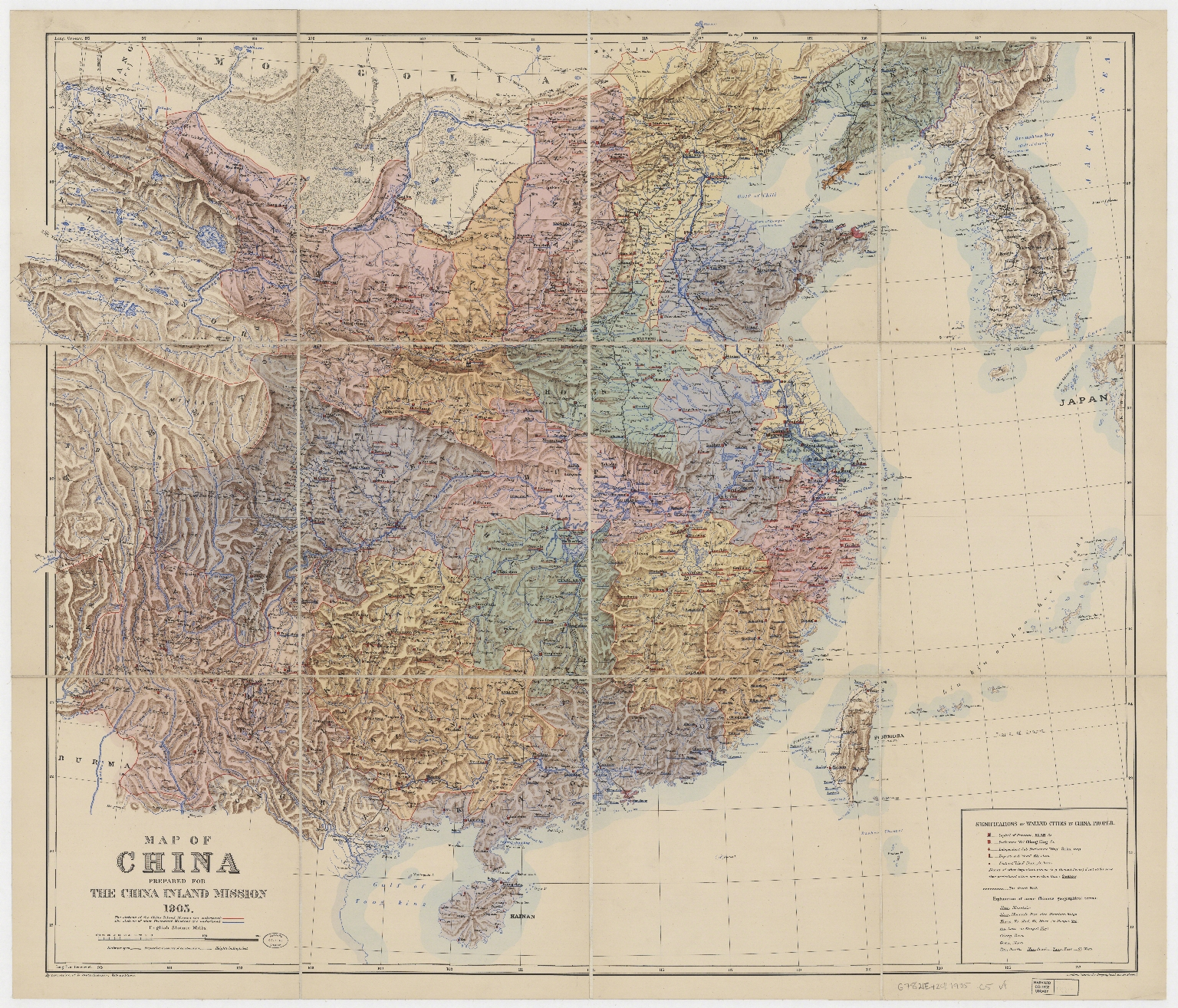 A map of China : prepared for the China Inland Mission, 1905