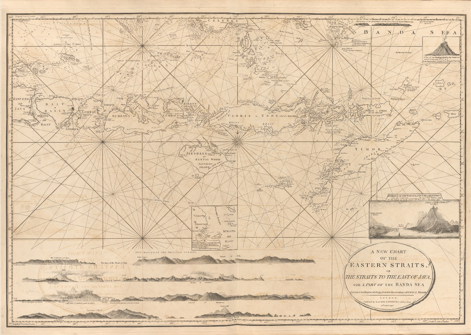 A new chart of the Eastern Straits or the straits to the east of Java with a part of the Banda Sea