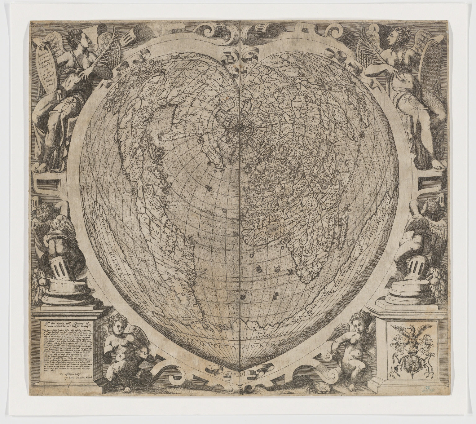 Cordiform map of the world