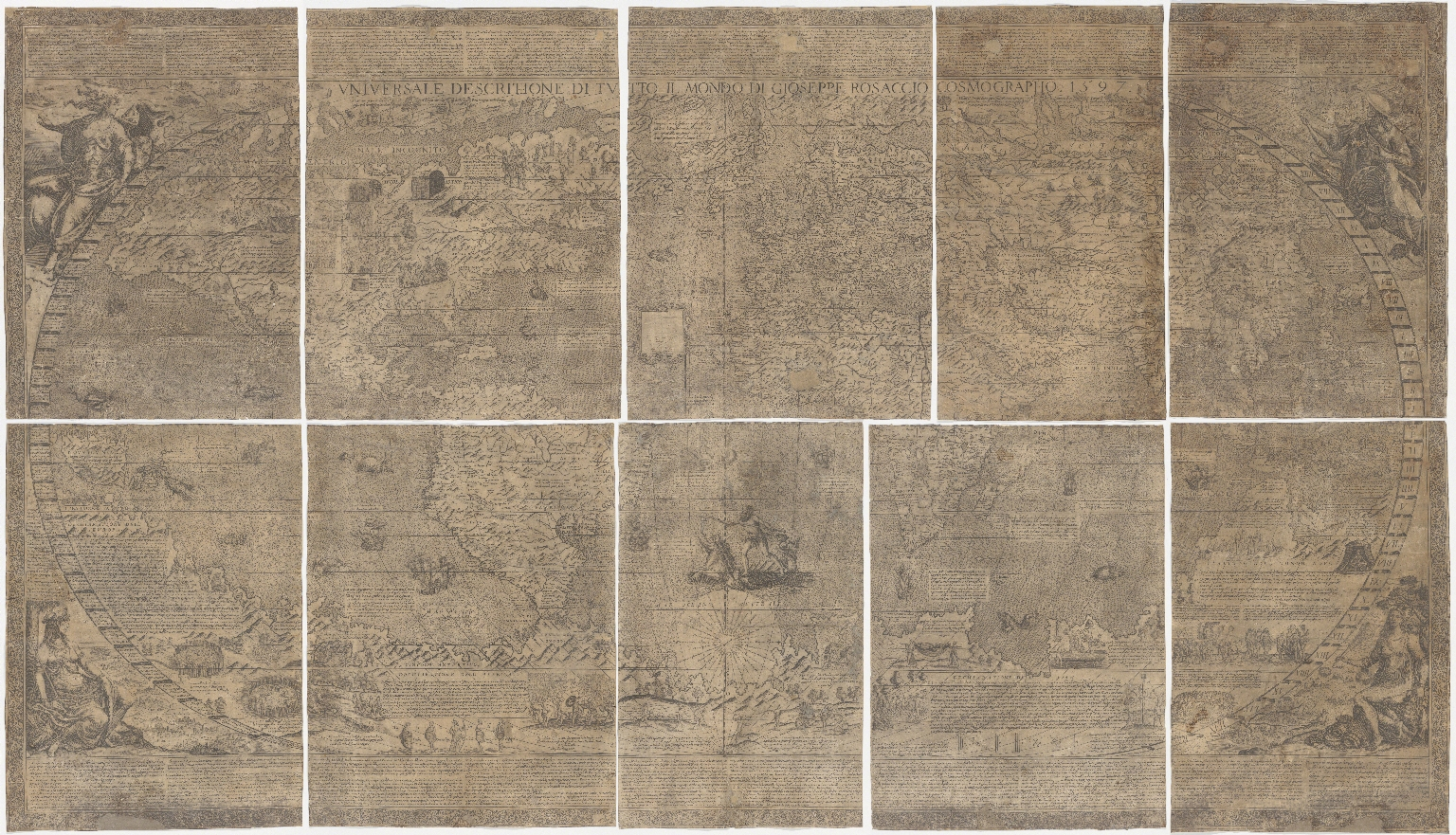 Universale descrittione di tutto il mondo di Gioseppe Rosaccio Cosmographo