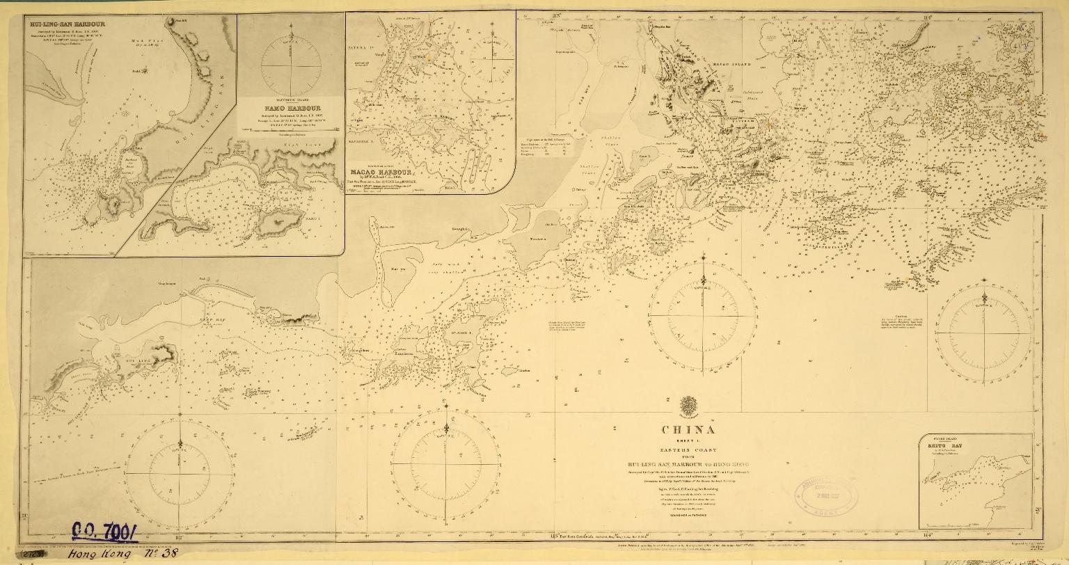 China. Sheet 1. Eastern Coast. From Hui Ling San Harbour to Hong Kong