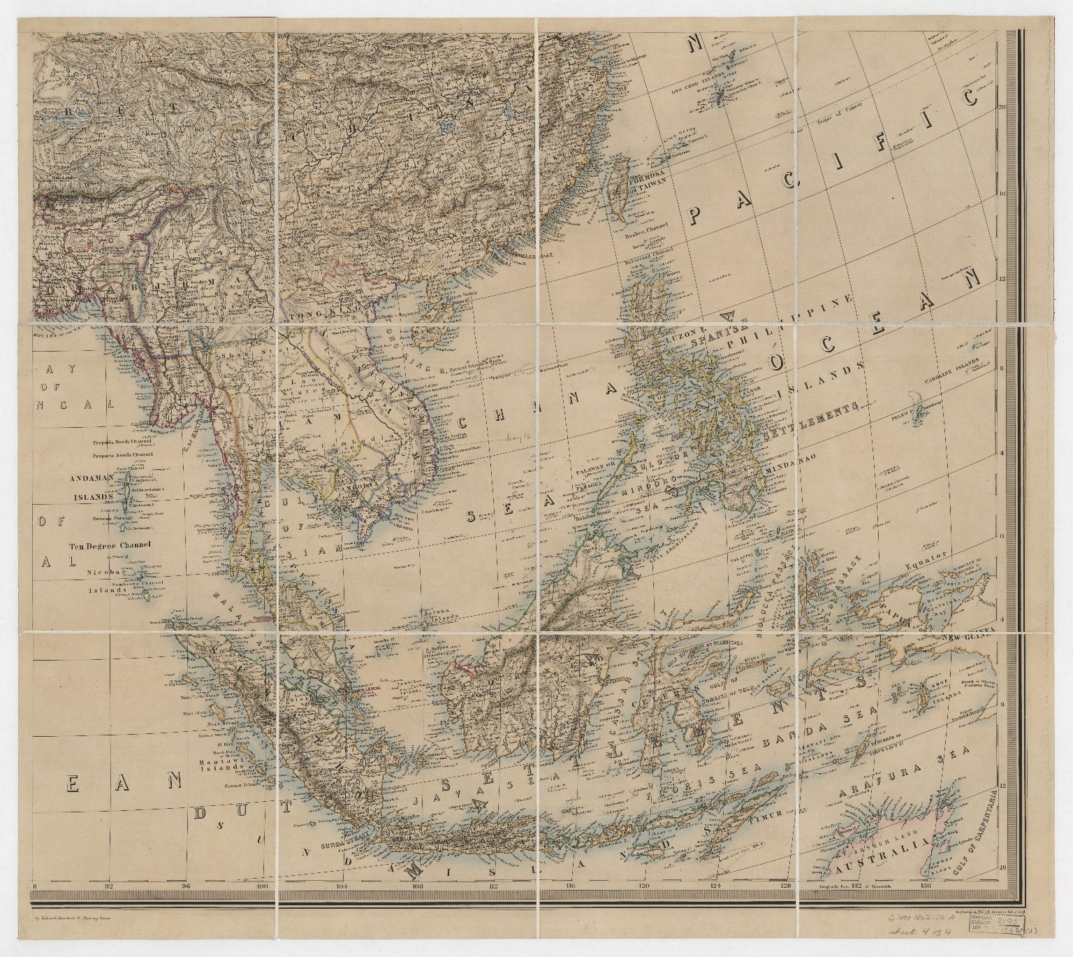 Stanford's library map of Asia. Part 4