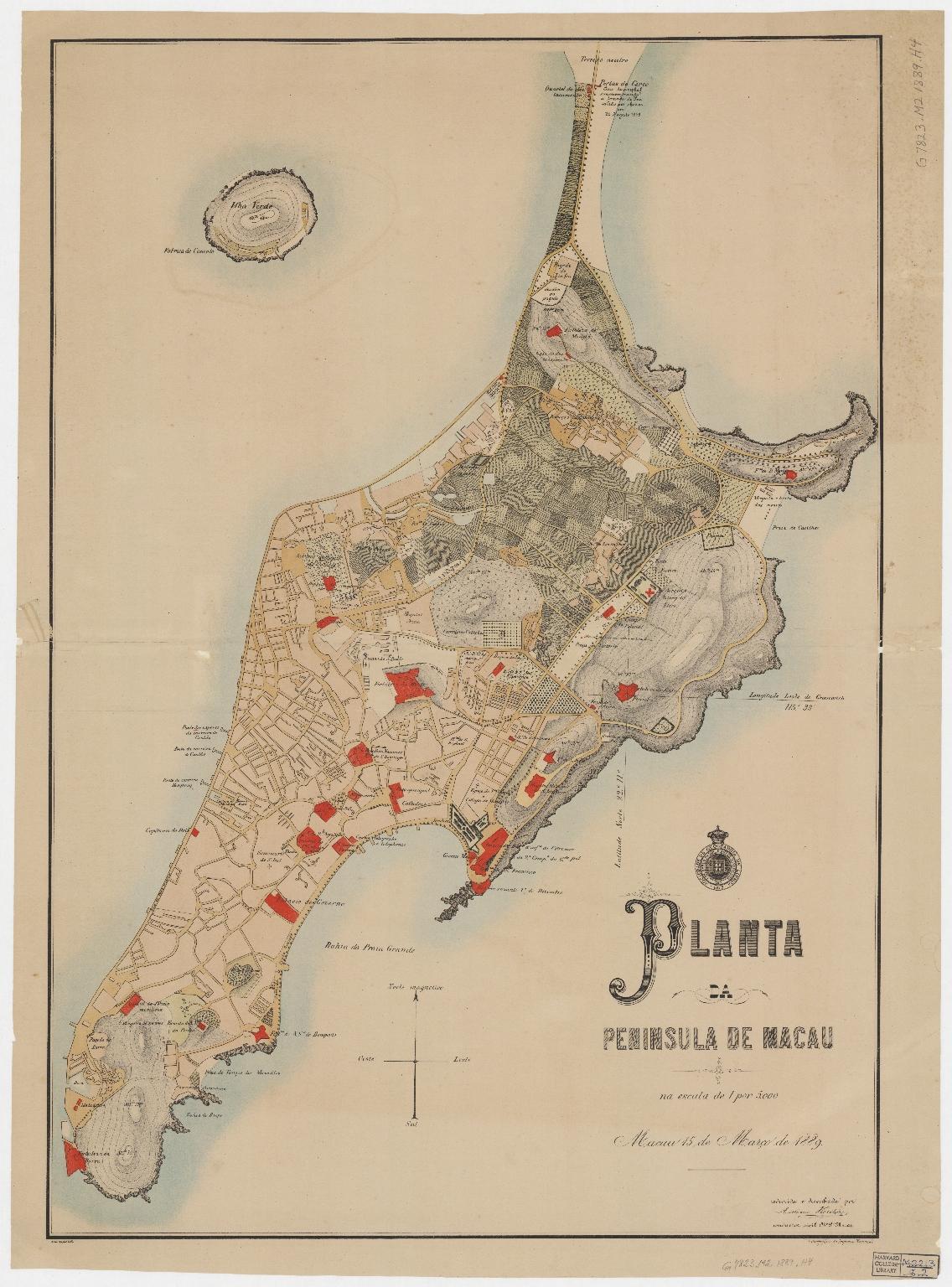 Planta da peninsula de Macau