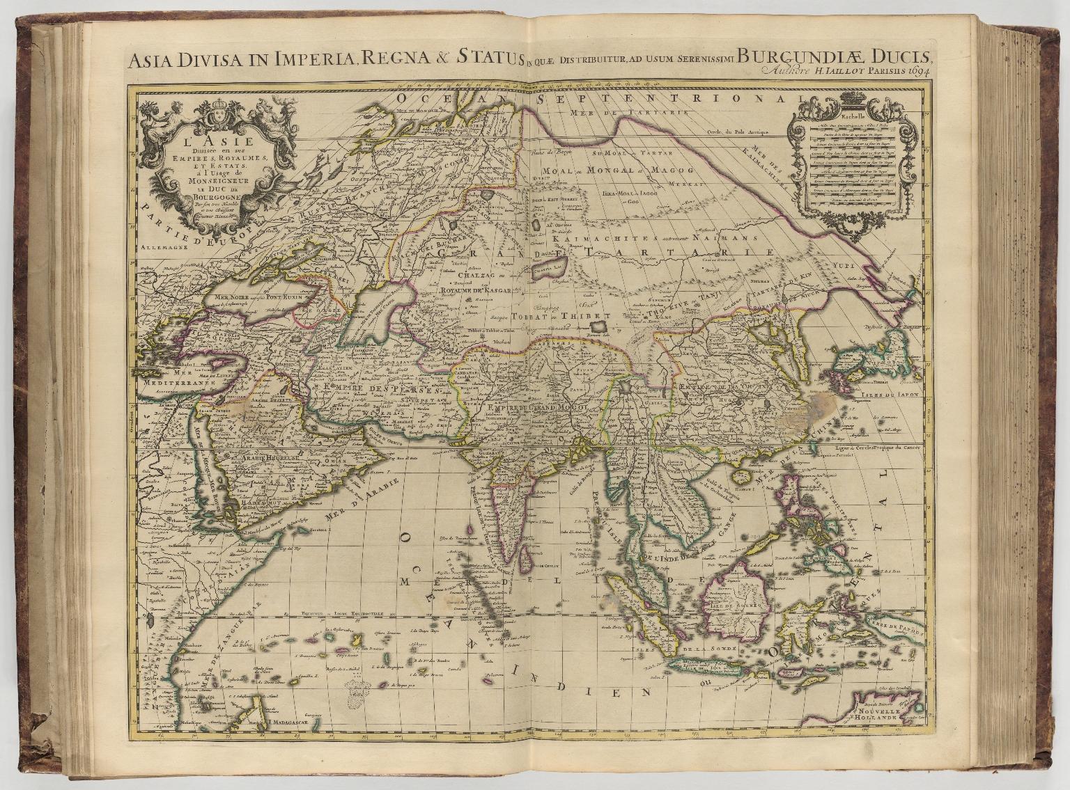 L'Asie diuisée en ses empires, royaumes, et estats : á l'usage le Monseigneur le Duc de Bourgogne = Asia divisa in imperia, regna [et] status in quæ distribuitur