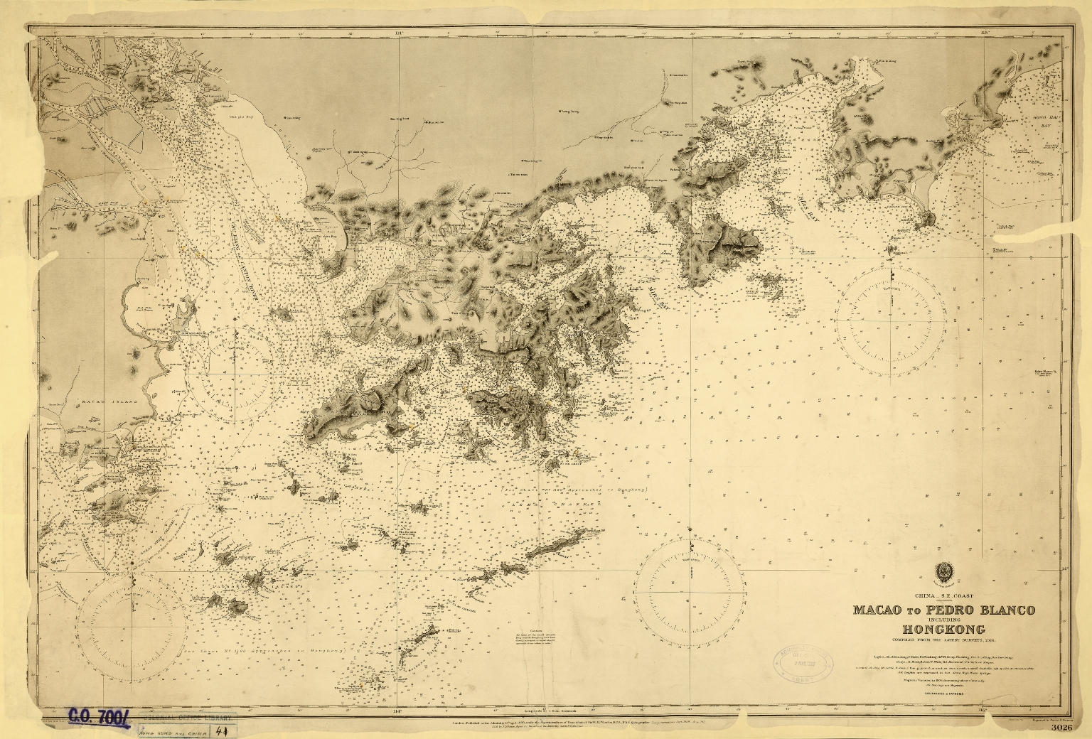 China. S.E. Coast. Macao to Pedro Blanco, including Hongkong