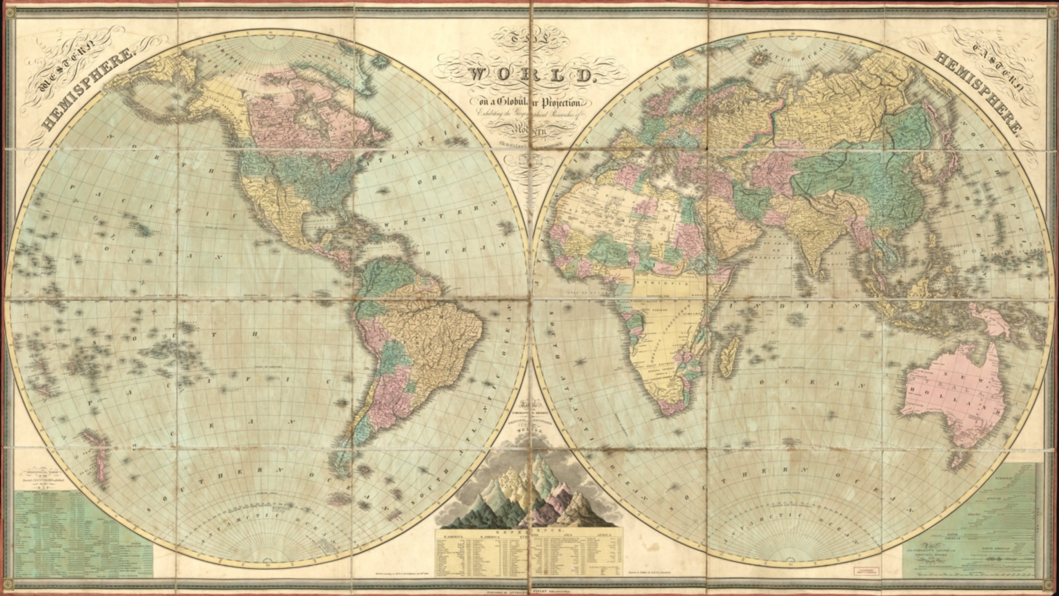 The world, on a globular projection, exhibiting the geographical researches of modern travellers & navigators