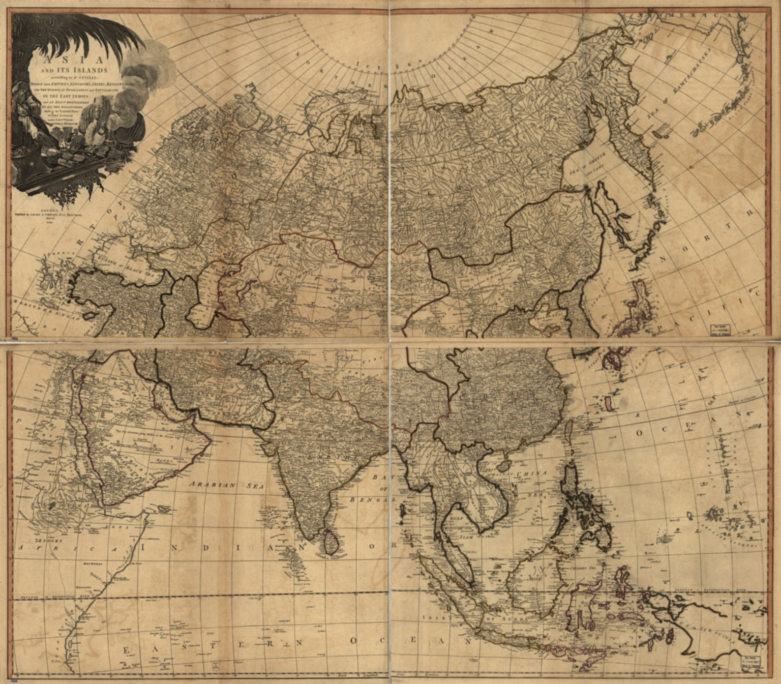Asia and its islands according to D'Anville