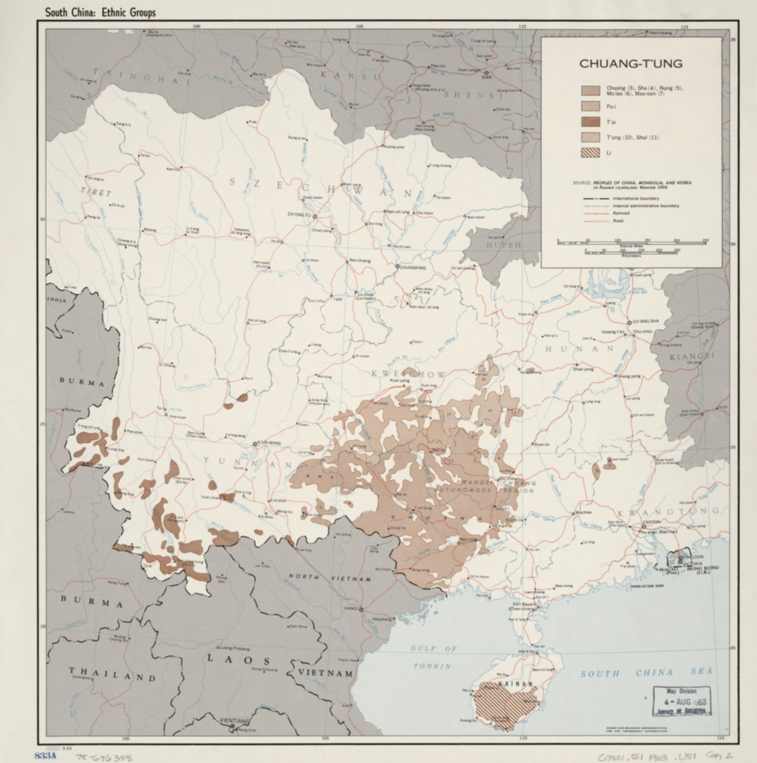 South China: Ethnic groups. 3-63