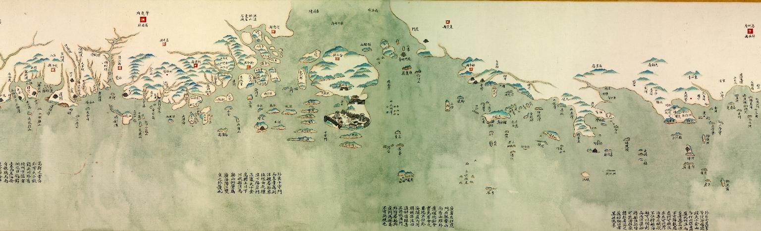 中華沿海形勢全圖. 澳門地區圖