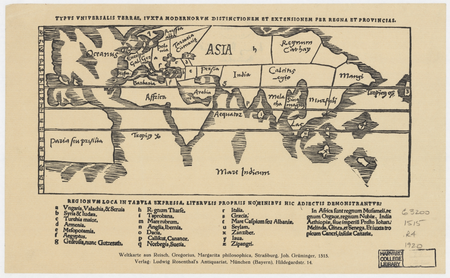 Typus universalis terrae, juxta modernorum distinctionem et extensionem per regna et provincias