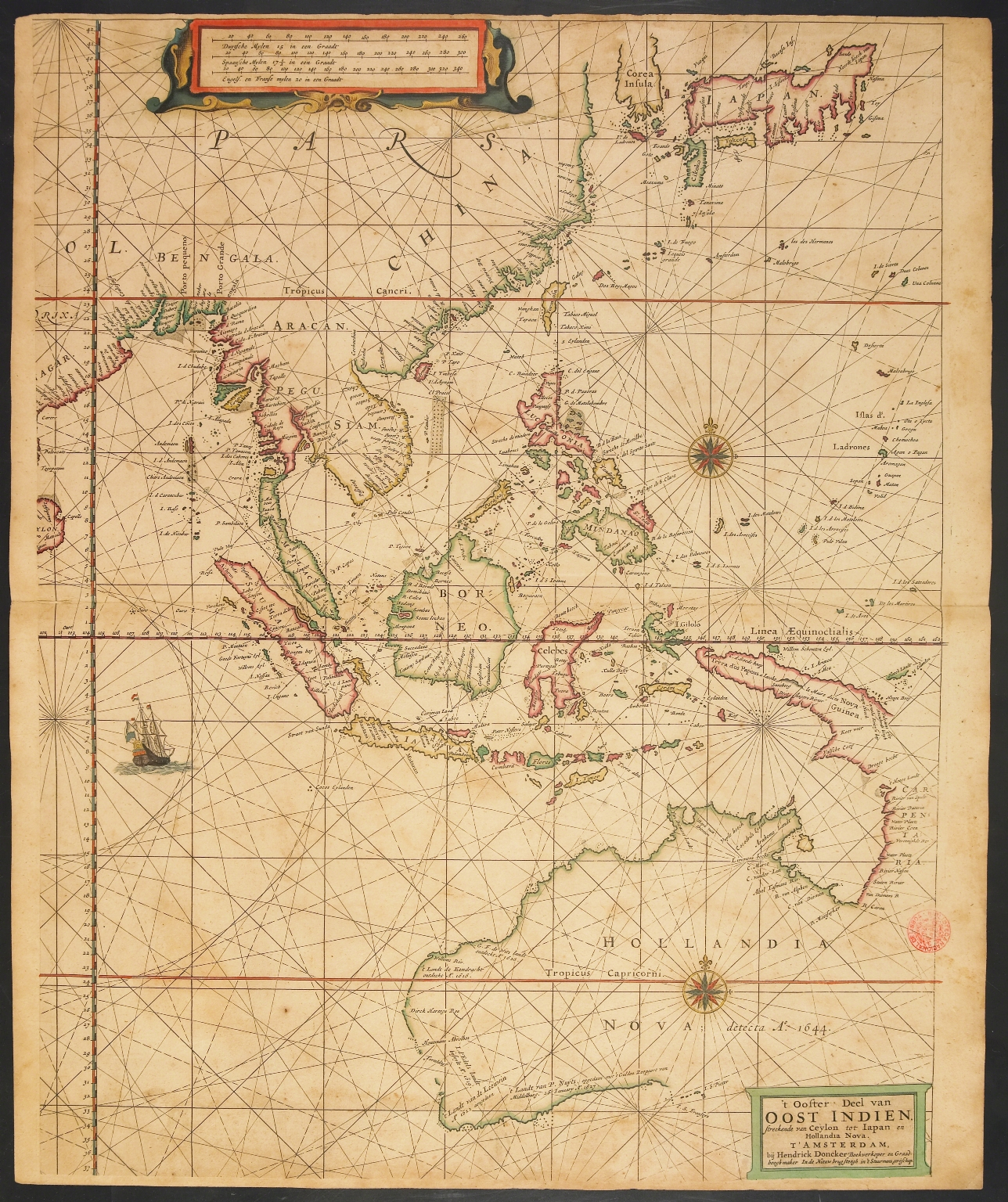 The Eastern part of East Indies stretching from Ceylon to Japan and New Holland